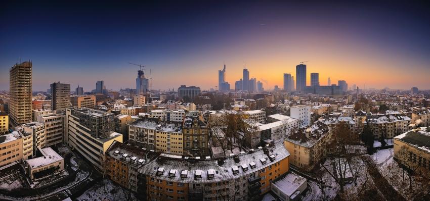 Winterskyline-Panorama