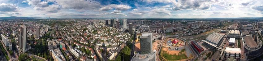 Whole of Frankfurt - 360°-Panorama