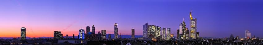Blue Hour Skyline Panorama [no. 1368]