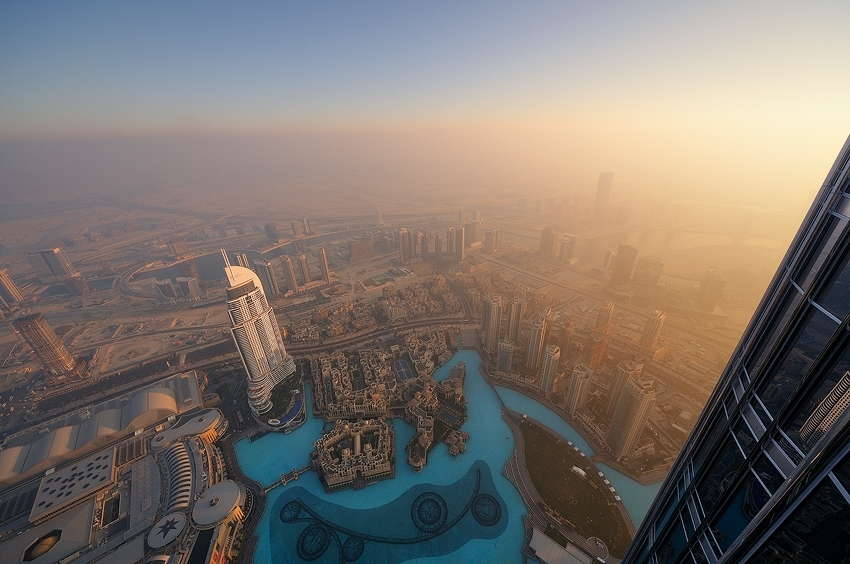 Dubai - Sunset at Burj Khalifa [no. 1505]