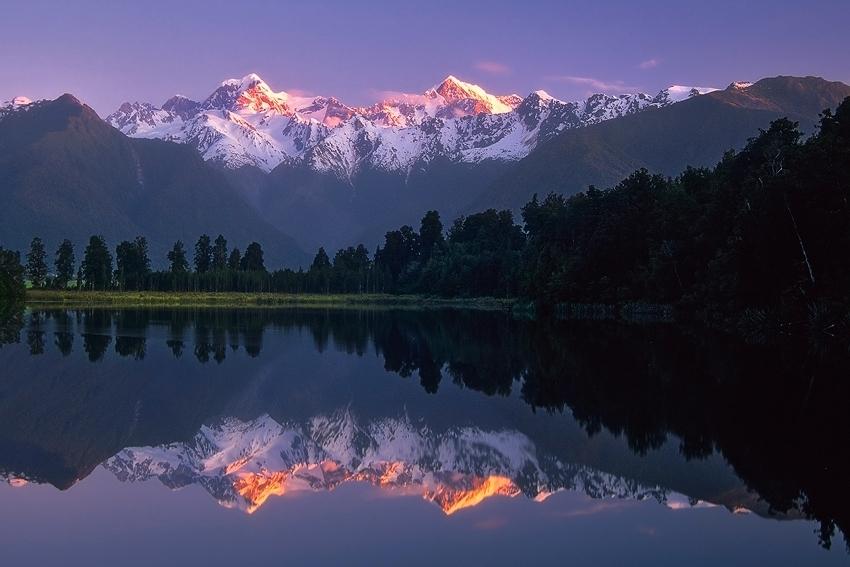 New Zealand: Lake Matheson  [no. 420]