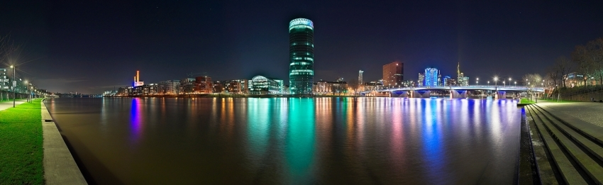 Westhafen @ Night - Panorama [no. 156]