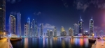 Dubai Marina Night Panorama [No. 1866]