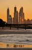 Dubai Marina seen from Jumeirah Beach  [no. 1472]